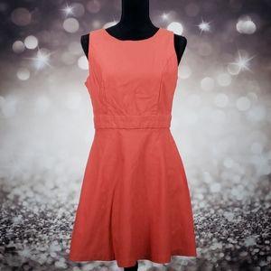 BCX Orange Fit & Flare Dress